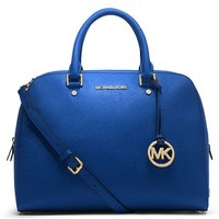 Michael Michael Kors Large Jet Set Travel Satchel (Sapphire)
