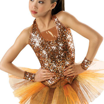 Sequin Halter Vest Dance Top; Weissman Costumes