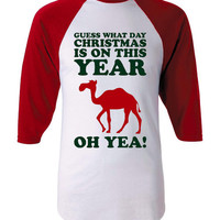 Hump Day Guess What Day Christmas Falls On This Year Oh YEA Hump Day Awesome Holiday T Shirt Fantastic Jersey Style Holiday Hump Day Shirt