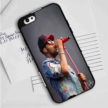 Kid cudi Red mic iPhone Case