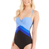 ModCloth Colorblocking Pick and Blues One-Piece Swimsuit