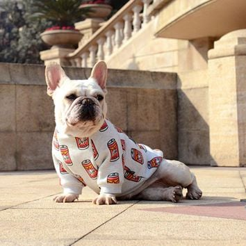 French Bulldog Dog T-Shirts, Dog Sweater (12-DC-Cans)