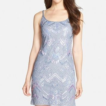 Women's Adrianna Papell Sleeveless Beaded Cocktail Dress,