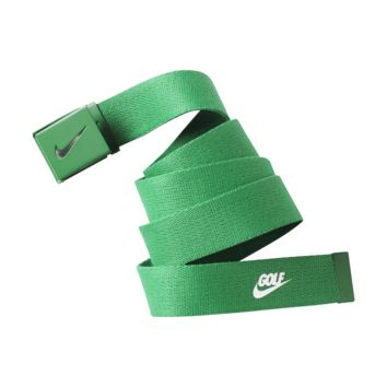 Nike Golf Logo Web Golf Belt (Green)