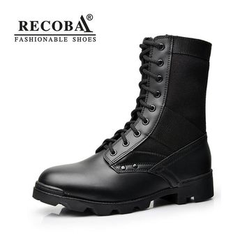 Men boots casual shoes luxury leather mid calf Motorcycle boots racing snow boots martin rain boots men boots
