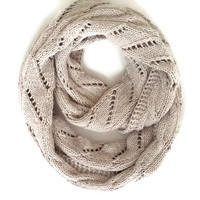 ON SALE - Beige Scarf - İnfinity Scarf - Cowl Scarf - Bridesmaid gift - Mushroom Beige Knitting Infinity Scarf - Antibacterial Yarn