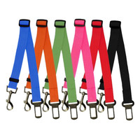 6 Colors Cat Dog Car Safety Seat Belt Harness Adjustable Pet Puppy Pup Hound Vehicle Seatbelt Lead Leash for Dogs Drop