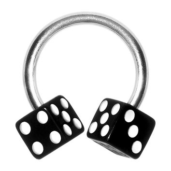Black DICE Horseshoe Circular Barbell