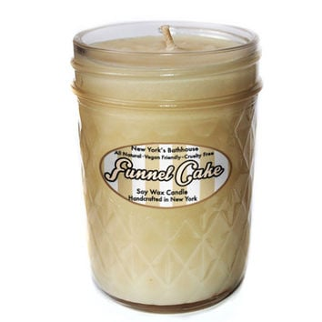 Funnel Cake Mason Jar Candle