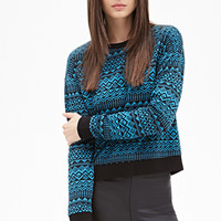 FOREVER 21 Geo Pattern Pullover
