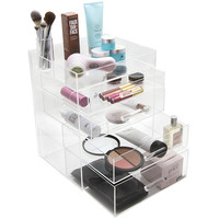 GLAMboxes GLAMluxe Makeup Box with Full Lid — QVC.com
