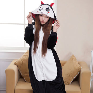 Winter Cartoons Animal Devil Couple Home Sleepwear [6819631687]