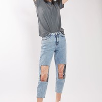 MOTO Clear Panel Mom Jeans | Topshop