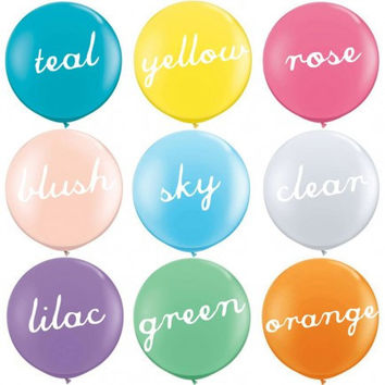 HUGE ROUND BALLOONS - 36 inch Balloons available in different colors