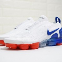 "Nike Air VaporMax Moc 2 ""2.0 Whtie&Blue&Red"" Running Shoes AH7006-400"