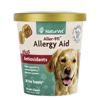 NaturVet Aller-911 Allergy Aid +Antioxidants Dog Chews 70ct