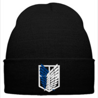 ATTACK ON TITAN embroidery hat - Beanie Cuffed Knit Cap