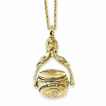 Gold-tone Rotating Trio Locket