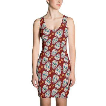 Sugar Skull Day of The Dead GARNET Dress