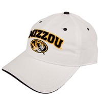 Mizzou 3-D Oval Tiger Head White Hat