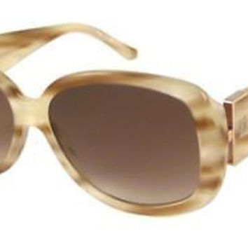 NEW AUTHENTIC GIVENCHY SGV690 COL 06UC BEIGE PLASTIC SUNGLASSES FRAME SGV 690