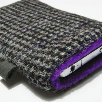 iphone 4 cover / iphone 4s case / Gray Purple Harris by pomella