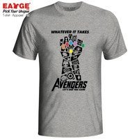 Avengers 4 Endgame T Shirt Marvelous Infinity War End Game Thanos Tshirt Novelty T-shirt EATGE Cotton White Gray Men Women Tee