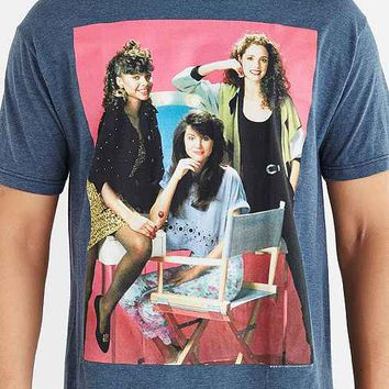 Saved By The Bell Girls Tee- Navy
