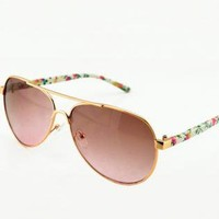 Flora Print Leg Sunglasses for Women-j BK003