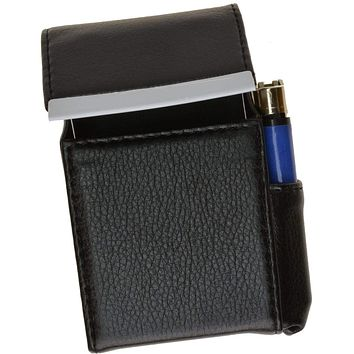 Genuine Leather Cigarette Case Holder with Lighter Pocket 92812 (C)
