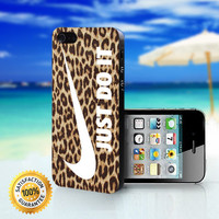 Nike Just Do It on Leopard - For iPhone 4/4s, iPhone 5, iPhone 5s, iPhone 5c case. Please choose the option