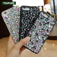 YESPURE 3D Diamond Phone Case for Iphone 7 Plus Luxury Women Fancy Covers Glitter Shinning Para Celular Mobile Phone Accessories