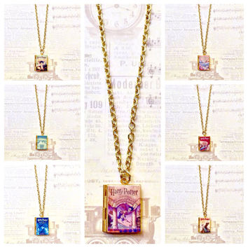 Harry Potter 1, 2, 3, 4, 5, 6 or 7 Book Necklace/Literary Necklace/Book Locket Necklace/Bookmark/Keyholder/Bag Charm/Bracelet