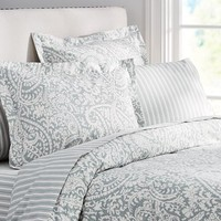 Theo Bedding Set - Porcelain Blue