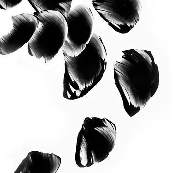 Black and White Painting BW Abstract Art Artwork High Contrast Depth Black Magic 260 Minimalism Minimalist Modern Contemporary Cummings