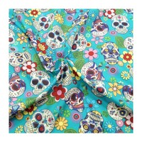 Sugar skulls hearts and diamonds in pink or turquoise steering wheel cover