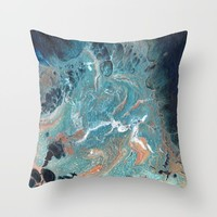 Cresting Wave Throw Pillow by livingworddesigns
