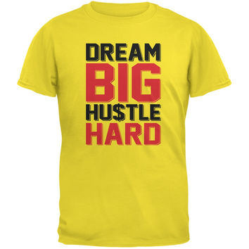 Dream Big Hustle Hard Yellow Youth T-Shirt