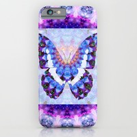 Purple Mandala Butterfly Art by Sharon Cummings iPhone & iPod Case by Sharon Cummings