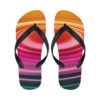 colorful ripple Flip Flops for Men/Women (Model 040) | ID: D2693756