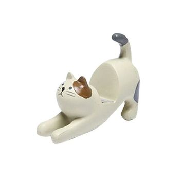 Cartoon Cat Shape Resin Mobile Phone Stand Innovative Lazy Live Table Top Phone Stand Mobile Phone Holder