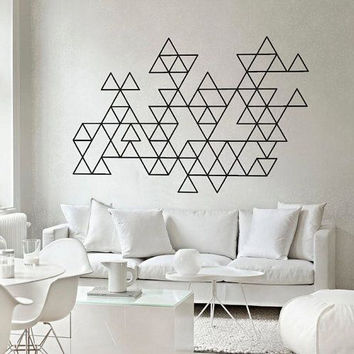 Geometric Pattern Modern Wall Decal Made To order Fast Production Shipping within 24 hours...Several Color Opt