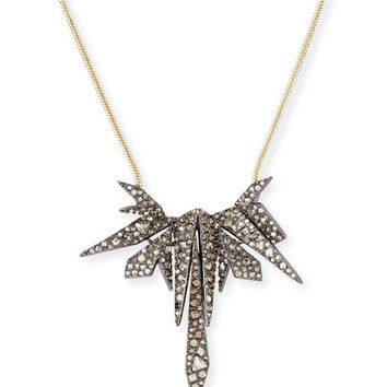 Alexis Bittar Two-Tone Spike Crystal Pendant Necklace