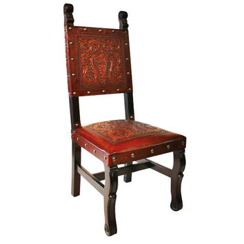 New World Trading SHC10 Spanish Heritage Antique Brown Chair