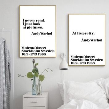 Nordic Poster Posters And Prints Wall Art Canvas Painting Andy Warhol Art Quotes Poster Wall Pictures For Living Room Unframed