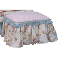 Angel Song 131620101 Blossoms & Bows Child Toybox Ottoman