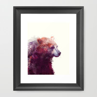 Bear // Calm Framed Art Print by Amy Hamilton