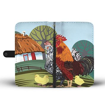 Rural Landscape Wallet Phone Case