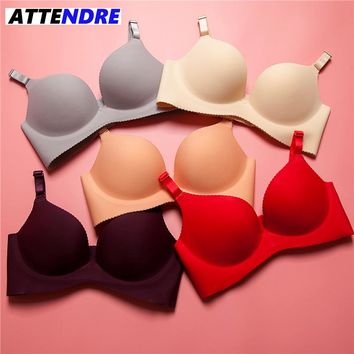 ATTENDRE 2017 Sexy Push Up invisible Bra Seamless Wireless Cropped Crop Top bralette Lingerie bh Bras for Women Candy bralet