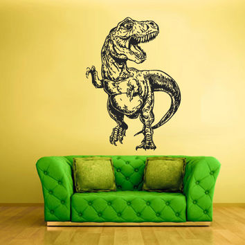 Wall Vinyl Sticker Decals Decor Art Bedroom Kids Design Mural Nursery Trex Skull Predator Dinosaur Dino Detailed (z2249)